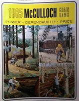 McCulloch 1965 FULL COLOR Sales Brochure Catalog Chain Saw Manual MAC 15 940 35A