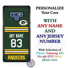 Green Bay PackersA18 Personalized Football Phone Case Cover fits Samsung etc.
