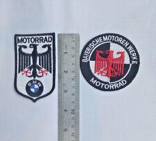2X BMW PATCH VINTAGE BAYERISCHE MOTOREN WERKE MOTORRAD R 51 25 27 32 BOXER