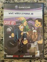 WWE WrestleMania X8  (Nintendo GameCube, 2004) NO MANUAL/ARTWORK TESTED