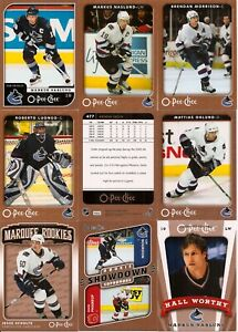 2006-07 OPC O-Pee-Chee Vancouver Canucks Complete Team Set (24)