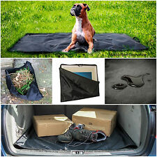 MultiPurpose Black Waterproof Car Boot Liner Mat, Outdoor Ground Mat & Carry Bag