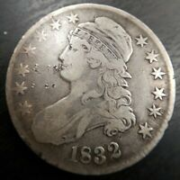 1832 Capped Bust Half Dollar 50c Very Fine Details VF Graffiti