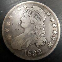 1832 Capped Bust Half Dollar 50c Very Fine Details VF Graffiti