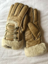 UGG Australia Striking Leather Shearling Gloves