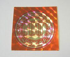 VECCHIO ADESIVO AUTO anni '80 / Old Sticker FIAT (cm 4x4) rosso carta brillante