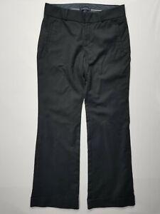 BANANA REPUBLIC 8 Black Martin Fit Women's Stretch Career Cuffed Pants