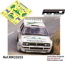 DECAL/CALCA 1/43; Lancia Delta Integrale; Ducruet-Delorme; Rally Catalunya 1996