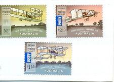 Australia-PRIMI VOLI-aviazione set di 3 Gomma integra, non linguellato