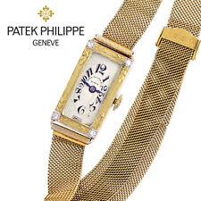 18K Gold Woman's Patek Philippe Bracelet Watch CA1924