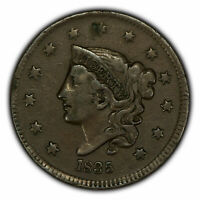 1835 1c Coronet Head Large Cent - VF Coin - SKU-Y2897