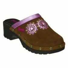 BARBIE BUSTER BROWN MATTEL Brown Suede Leather Clogs Shoes Toddler's Size 9  $24