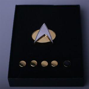 Star Trek Badge The Next Generation Communicator Pins and Rank Pips Pin Set Of 6