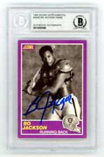 Bo Jackson 1989 Score Supplemental Autograph Card #384S - Bas