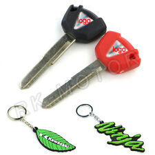 1PCS Blank Blade Motorcycle Uncut Key keychain For Kawasaki 2 Colors Left Slot