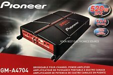 NEW PIONEER GM-A4704 4-Channel A Series Bridgeable Class AB 2-Ohm Stable Car Amp