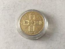 Grande Bretagne pièce 1 Florin en argent plaqué or 1915 TTB