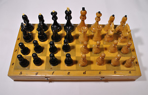 Soviet Grossmeister Wood Chess Set Russian Vintage USSR Antique Tournament