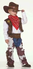 Cowboy Kid Western CHILD Costume Size S Small 4-6 NEW