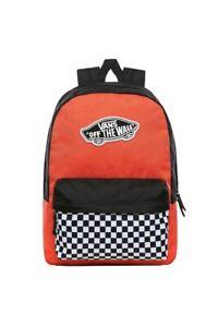 Vans Realm Off The Wall Skate Orange Rucksack Backpack School Uniform Bag