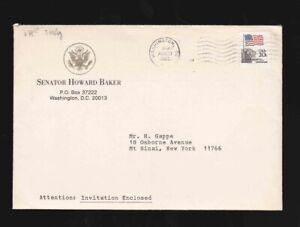 Senator Howard Baker w/ signed letter Ronald Reagan White House Chief of Staff