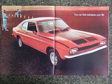 FORD CAPRI 1969 (INCL THE GT) SALES  BROCHURE  100% GUARANTEE.