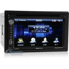 """SOUNDSTREAM Double DIN Bluetoooth DVD/CD Car Stereo w/ 6.5"""" Screen 