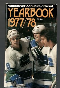 ORIGINAL 1977-78 VANCOUVER CANUCKS NHL MEDIA GUIDE YEARBOOK FACT BOOK