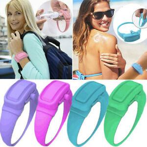 UK Wristband Hand Dispenser Wearable Gel Refillable Wristband Soap Pumps