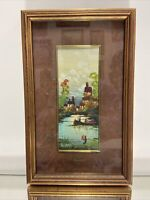 VTG. Impression Oil on Canvas Painting Signed Wanni