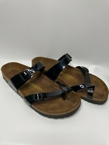 Birkenstock Mayari Women's Men's Black Patent Sandals Flip Flop 43
