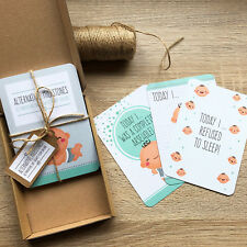 Alternative Baby Milestone Cards, Funny Gift For New Mums & Baby Showers