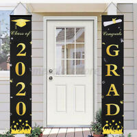 2020 Graduation Porch Sign Graduation Couplet Banner Door Hanging Decor Party