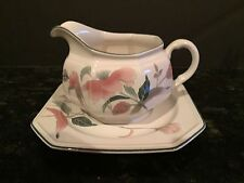 "MIKASA ""SILK FLOWERS"" GRAVY BOAT with UNDERPLATE ~ F3003 ~ PICK-UP or  POST"