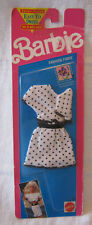 BARBIE FASHION FINDS ~ 1991 - 2PC WHITE JERSEY w/BLACK POLKA DOTS OUTFIT ~ NEW