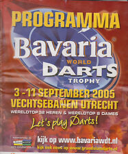 Programme / Programma Bavaria World Darts Trophy 2005 The Netherlands Programme