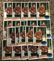 Tony Esposito 1980-81 Topps Lot (21) Unscratched Chicago Blackhawks