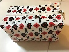 Anna Sui PVC white waterproof prints pouch case NEW GWP 2016