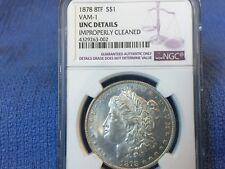 1878 8TF Morgan Silver Dollar ~ VAM-1 NGC UNC Details