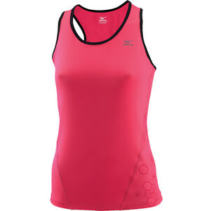 Mizuno Women DryLite Support Sport Top Vest Carmine Rose S