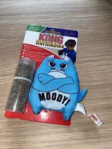 KONG refillables purrsonality moody - stuffable cat plush