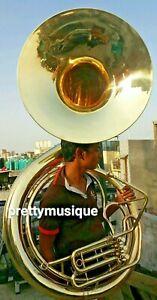 "Sousaphon Groß 25 "" Glocke Gold Jumbo Von Pure Messing+Mouthpc+Schutzhülle+"