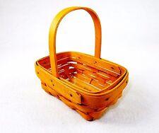 Longaberger Tea Basket, Single Wood Handle, w/Insert, 6x4 ~ Signed 1999 ~ #LB-01