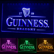 Guinness Beer LED Neon Irish Bar Sign Home Light up Pub Quality Draught stout!