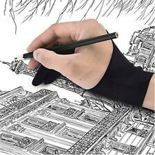 1pc Two Finger Anti-fouling Glove For Artist Drawing & Pen Graphic Tablet Pad C