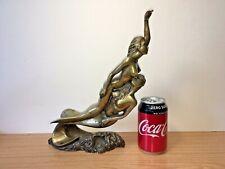 Original Signed Bronze Sculpture of Two Nude Mermaids 3.4 kg