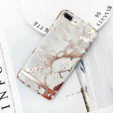 Luxury Rose Gold Marble Print Hard Plastic Phone Case for iphone 6 6s 7 plus