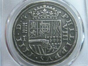 1651 SEGOVIA 8 REAL PCGS XF45 PHILIP IV ASSAYER I SPANISH SILVER COLONIAL ERA