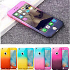 360° Full Body Hybrid Armor Case Cover + Tempered Glass For iPhone 6 6S Plus 5S