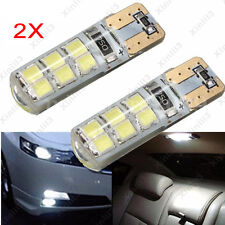 2pcs Car T10 194 W5W COB 2835 SMD 12LED Canbus Super Bright License Plate Light